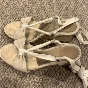 UGG Espadrilles - cream and taupe canvas